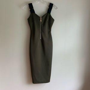 AX Paris 🛩 black green bodycon dress size 4
